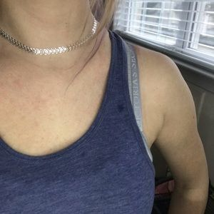 Silver Choker Style Necklace